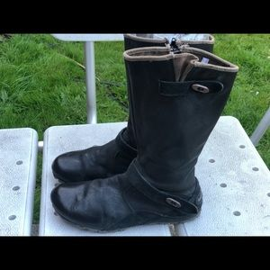 Merrell Select Dry Black Leather Knee High Boots